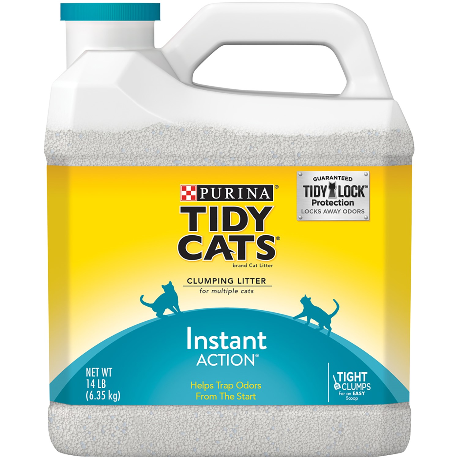 Purina Tidy Cats Clumping Cat Litter for Multiple Cats 14 lb. Jug