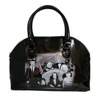 Rock Rebel Black Vegan Vinyl Addams Family Purse Handbag
