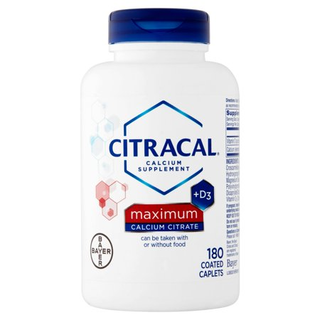 Citracal calcium maximum Citrate + D3 Supplément de calcium, 180 count