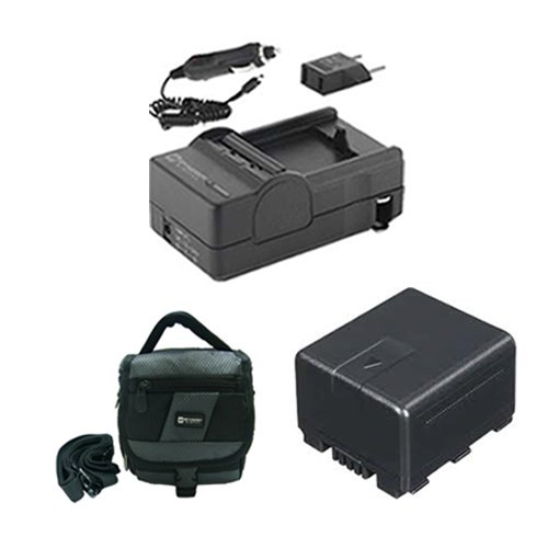 Panasonic HC-X920 3MOS Camcorder Accessory Kit includes: SDVWVBN130 Battery, SDM-1551 Charger, SDC-27 Case