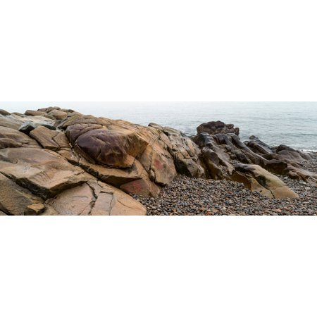 View of rocks at coast Acadia National Park Maine USA Poster Print by Panoramic
