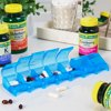 Equate Weekly 7 Day Pill Planner, Large Pill Organizer for Medication, Vitamins, & Supplements, Assorted Colors