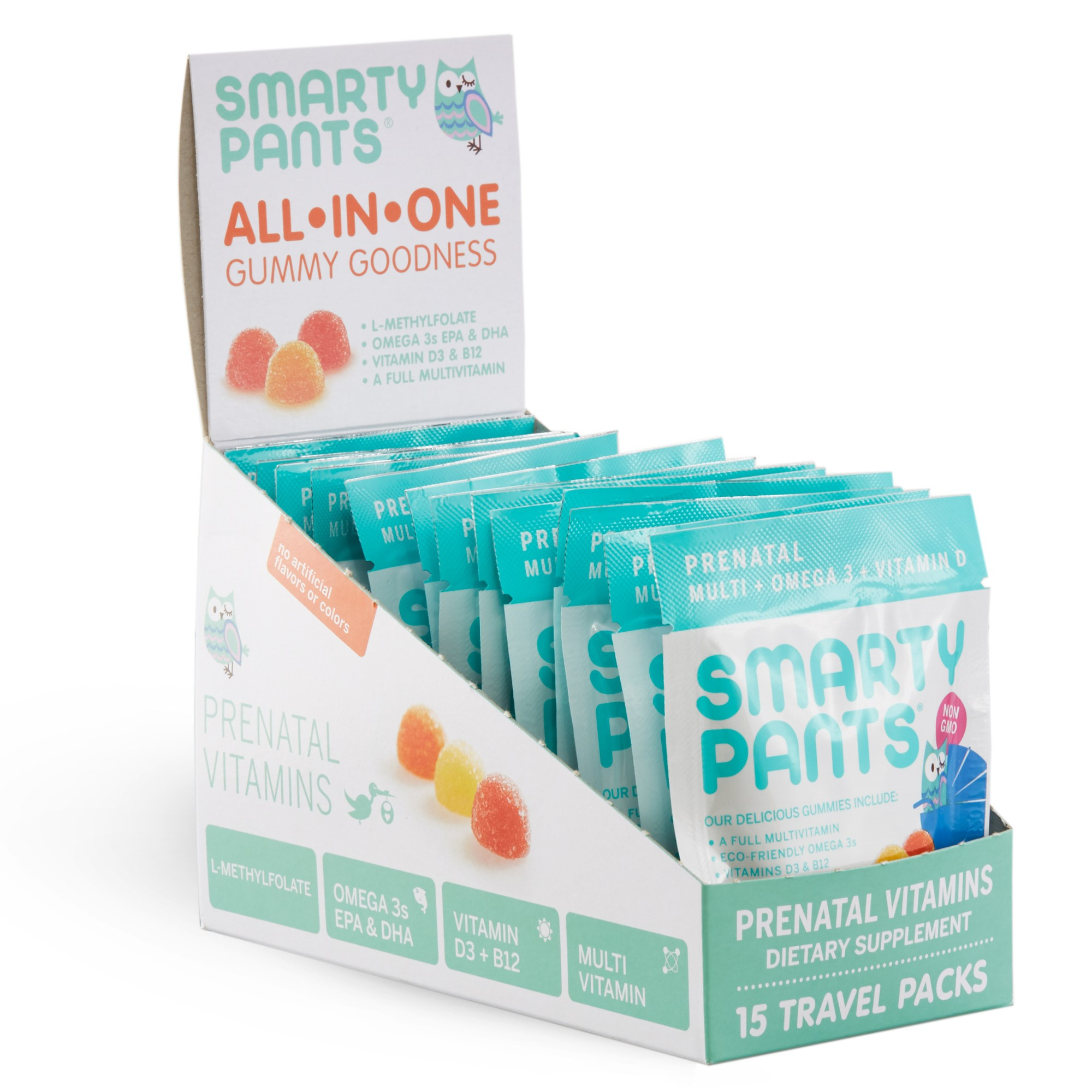 Smartypants Gummy Vitamins On The Go Prenatal Multivitamin Omega