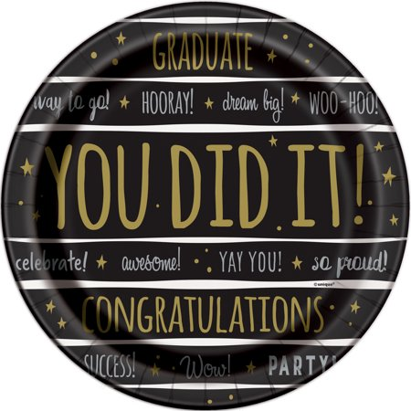 You Did It! Graduation Paper Plates, 7 in, 8ct](Graduation Plates)
