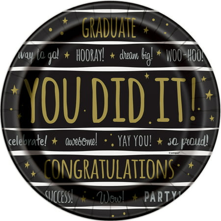 You Did It! Graduation Paper Plates, 7 in, 8ct - Make It Plates