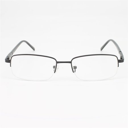 02b5ca012d13 Ebe Men Black Rectangle Half Rim Spring Hinge Eyewear Reading Glasses a964  - Walmart.com