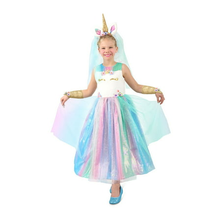 Old Lady Halloween Costume For Toddlers (Halloween Girl's Lovely Lady Unicorn Toddler)