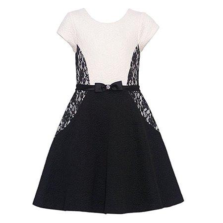 Bonnie Jean Big Girls Tween Lace Inset Skater Dress - Dresses For Tweens