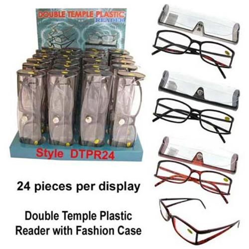 Bulk Buys Double Temple Reading Glasses Display - Case of 24