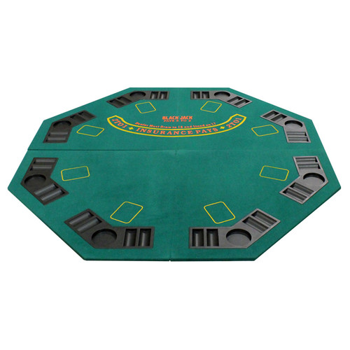 JP Commerce New Design 4 Fold Octagon Poker and Blackjack Table Top by JP Commerce