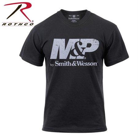 smith & wesson distressed m&p logo t-shirt - black,
