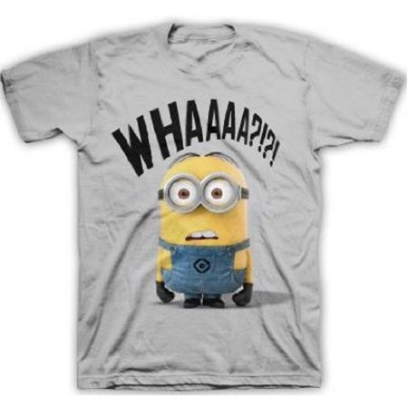 Despicable Me Whaaa Minion Gray Adult T-Shirt](Minions Dress)