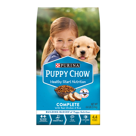 Puppy Chow Complete With Real Chicken Dry Puppy Food - 4.4 lb. Bag - Halloween Puppy Chow