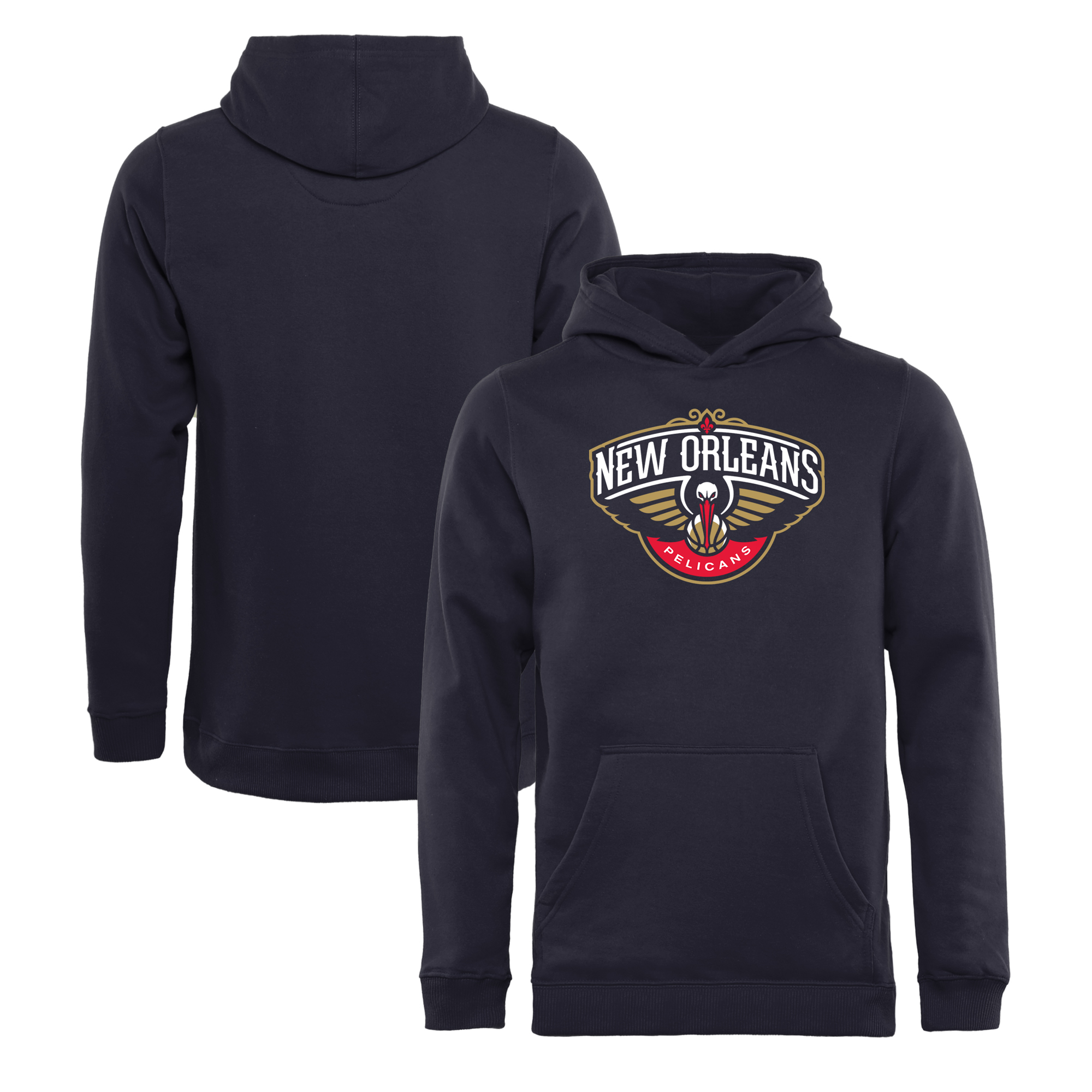 New Orleans Pelicans Fanatics Branded Youth Primary Logo Pullover Hoodie - Navy