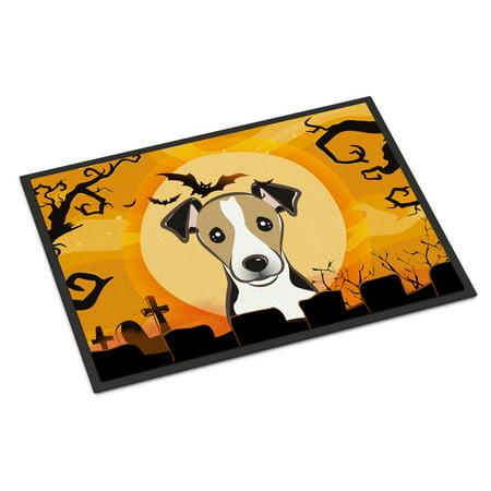 Halloween Jack Russell Terrier Door Mat (Jack Russell Halloween)