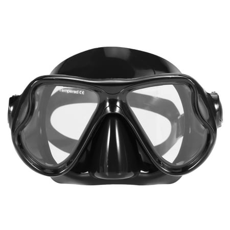 Lixada Adults Freediving Mask Anti-fog Diving Snorkeling Swimming Mask Tempered Glass Lens Goggles for Men Women