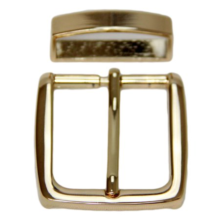 Square Replacement Buckle And Loop Set For 35mm Width Belt Light Gold Finish