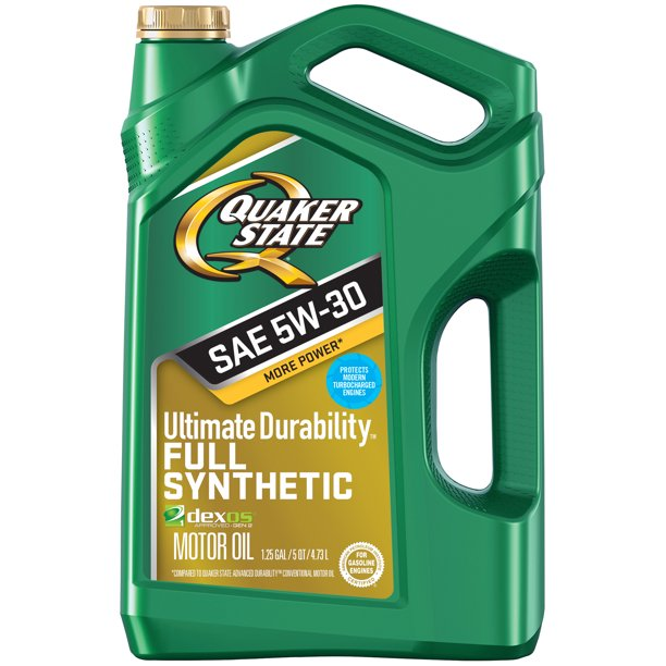 Quaker State Ultimate Durability 5W-30 Full Synthetic Motor Oil, 5
