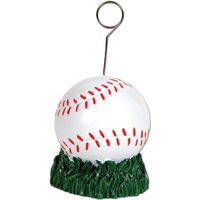 Baseball Photo/Balloon Holder Party Accessory (1 count), 1 Balloon Weight per package By Beistle