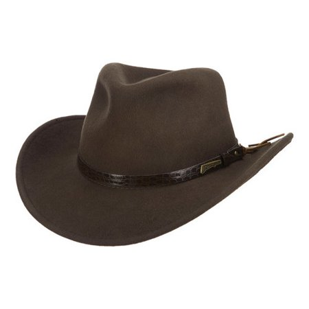 6b8508fc Indiana Jones - Men's Indiana Jones IJ555 All Seasons Outback Fedora -  Walmart.com