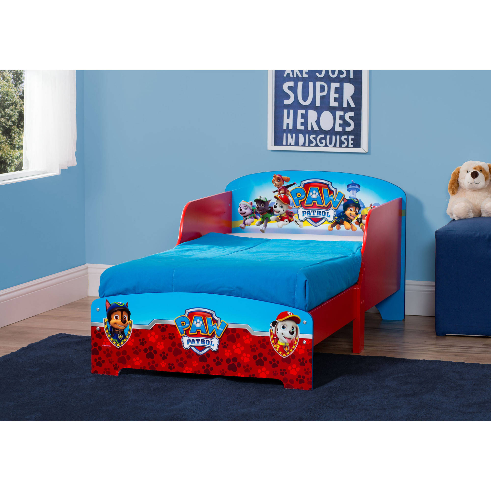. Paw Patrol Wooden Toddler Bed   Walmart com