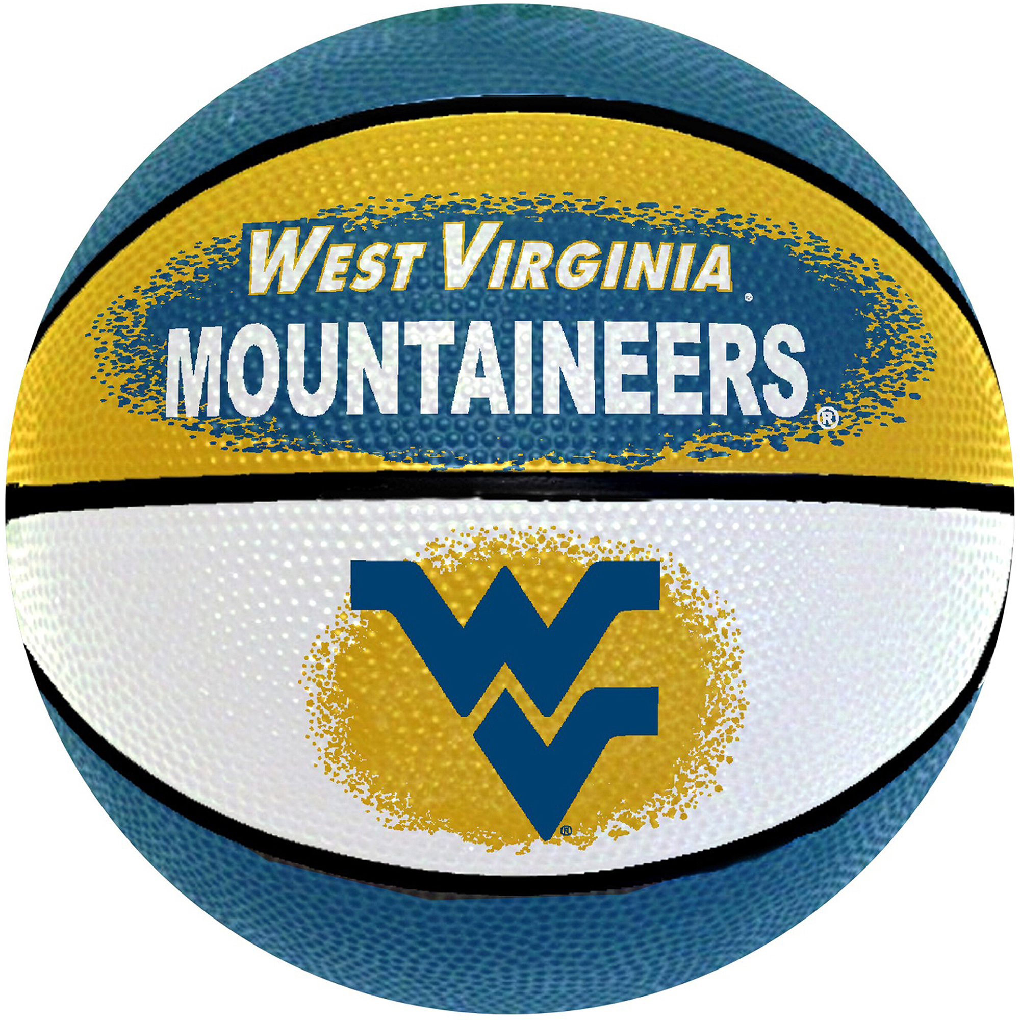 "Game Master NCAA 7"" Mini Basketball, West Virginia University Mountaineers"