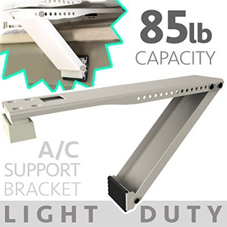 Universal Window Air Conditioner Bracket - 1pc Medium-Duty Window AC Support - Support Air Conditioner Up to 85 lbs. - For 12000 BTU AC to 24000 BTU AC Units (1, MED DUTY- ONE (A/c Bracket)