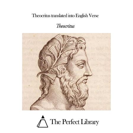 Theocritus translated into English Verse - eBook
