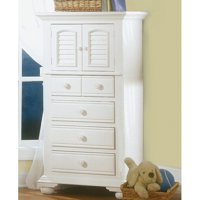 American Woodcrafters Cottage Traditions 4 Drawer Lingerie Chest - Eggshell White