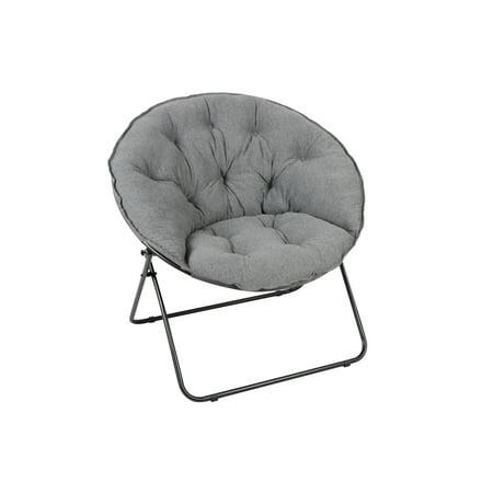 Elizabeth Saucer - Mainstays Oversized Saucer Chair, Jersey Gray