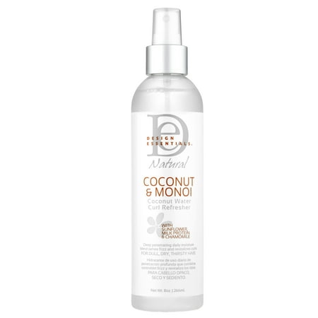Design Essentials Coconut And Monoi Water 8 Ounce Curl Refresher