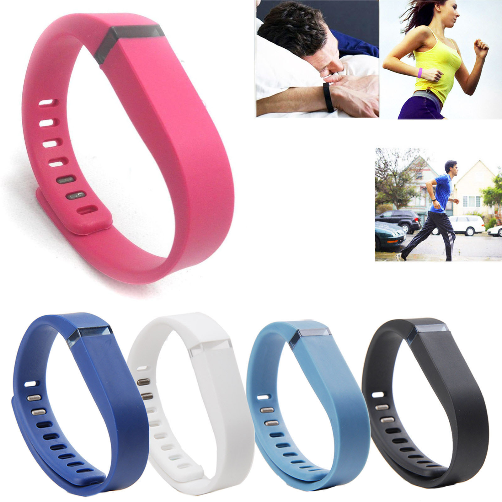 EEEKit 5in1 Bundle Replacement Wrist Band with Clasp for Fitbit Flex Wireless Activity Sleep Wristband
