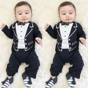 Baby Boys Gentleman Long Sleeve Jumpsuit Formal Outfit