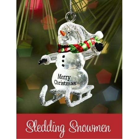 Joyous Snowman (Ganz Sledding Snowman - Fill Your Holiday With Joy Christmas Ornament)