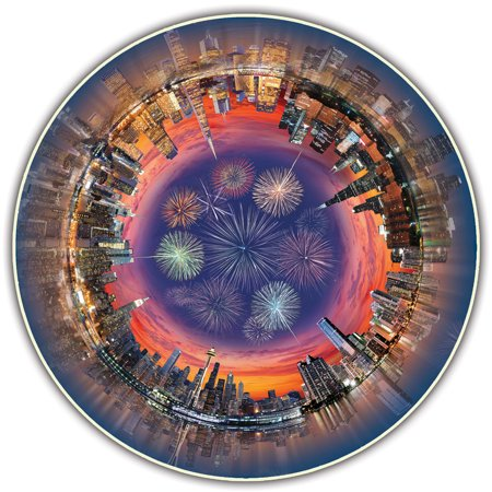 A Broader View's Round Table Puzzle - City Central (500-piece) - City Table