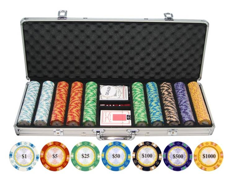 Monte Carlo Clay Poker Chip Set by JP Commerce