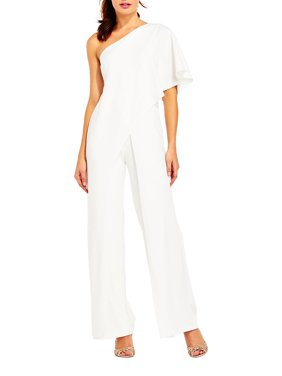 260fe2493eed Product Image Solid One-Shoulder Jumpsuit. Product Variants Selector. BLACK  Black RED White. Adrianna Papell