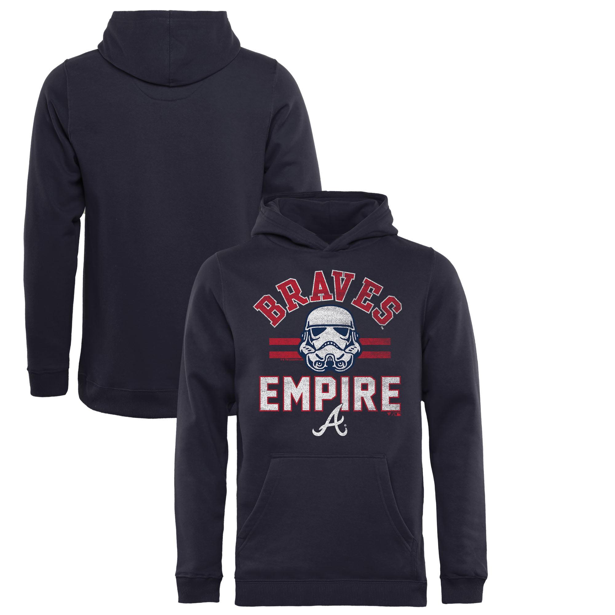 Atlanta Braves Fanatics Branded Youth MLB Star Wars Empire Pullover Hoodie - Navy