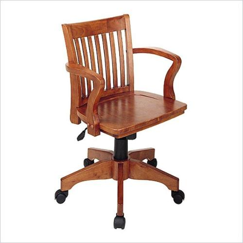 Deluxe Wood Bankers Chair with Wood Seat