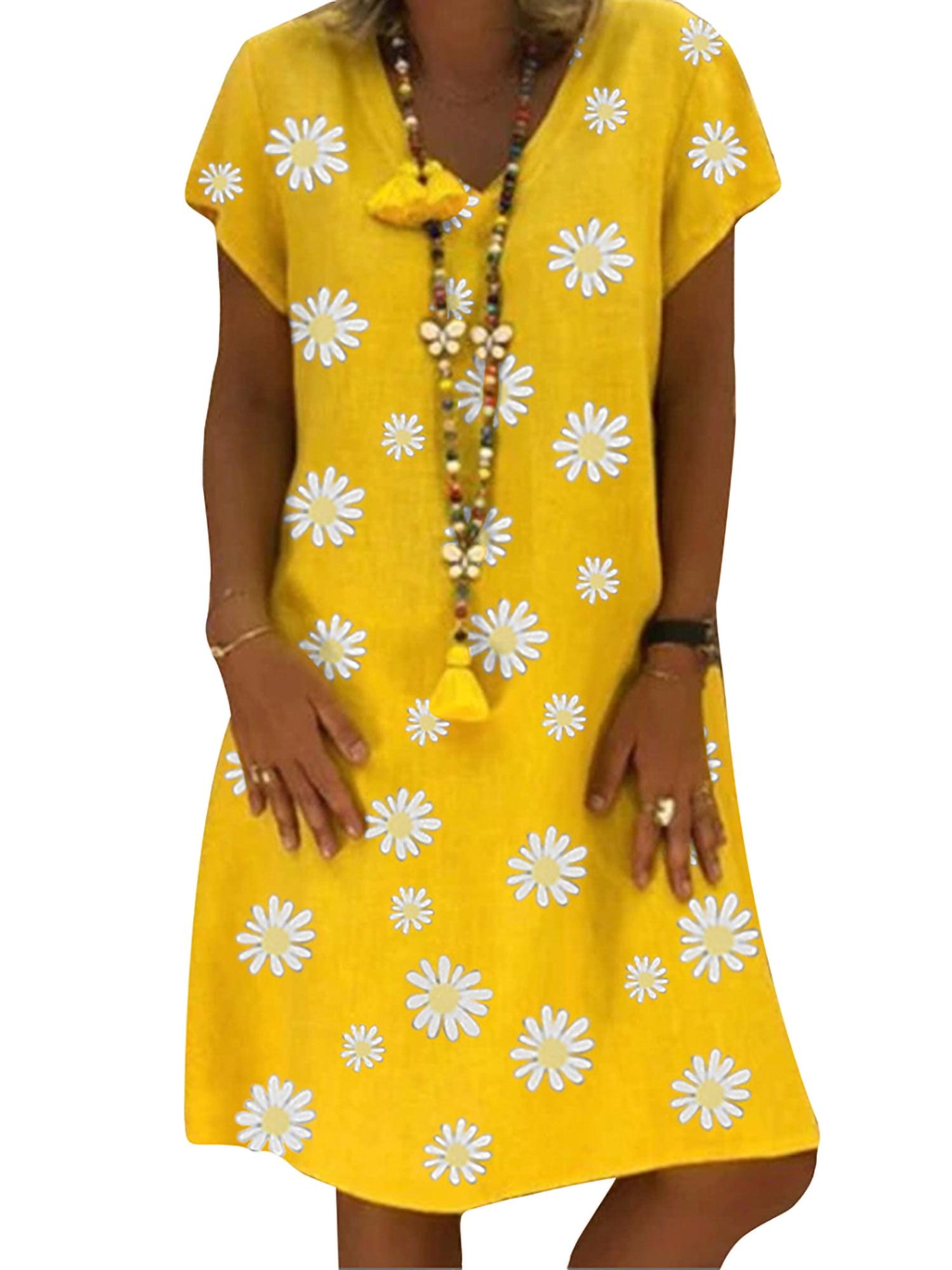 Short Sleeves Dress Cotton Dress Women Cotton Tunic with Sleeves Cotton Tunic Dress