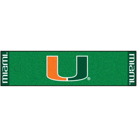 FanMats University of Miami Putting Green Mat