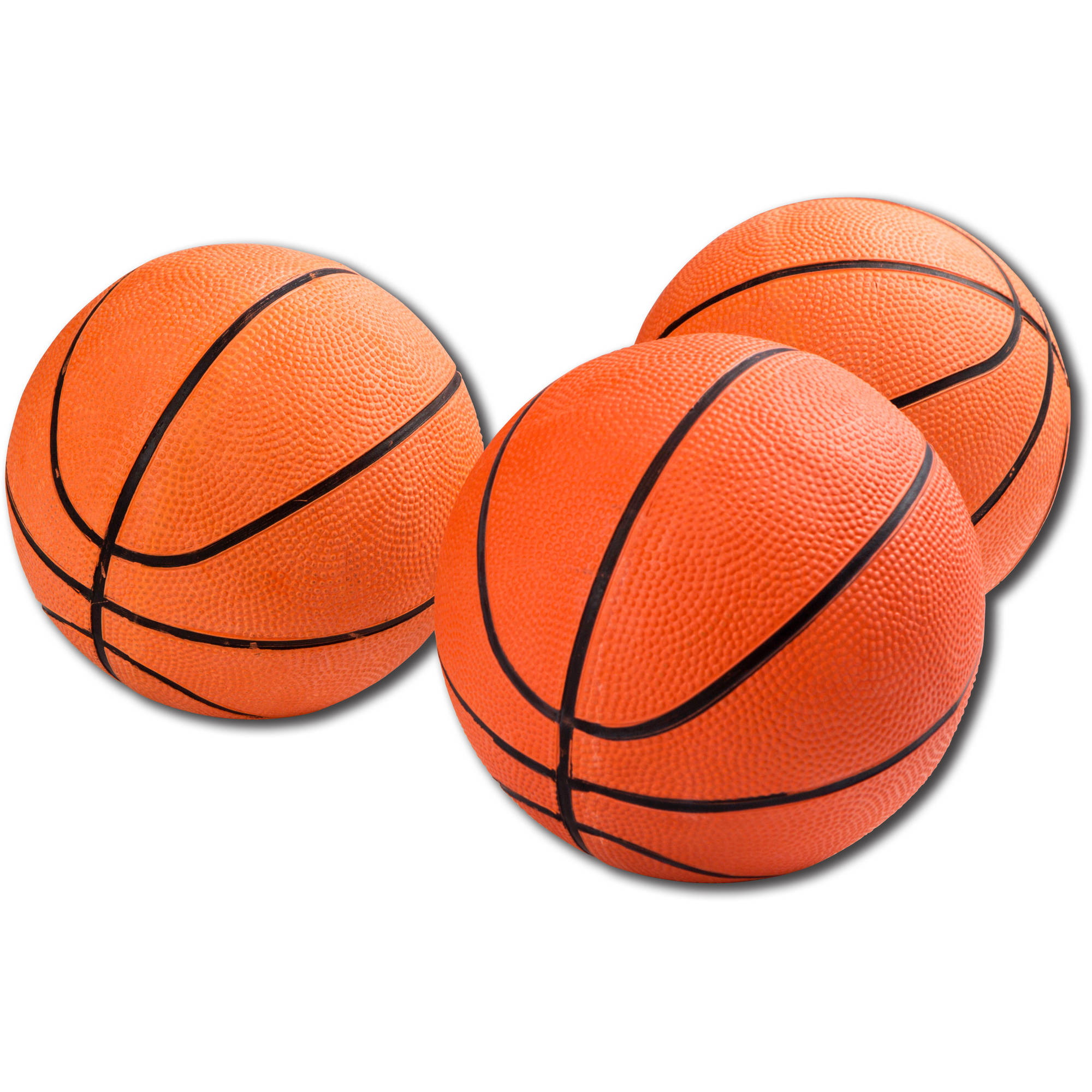 MD Sports 3 Rubber Arcade Basketballs