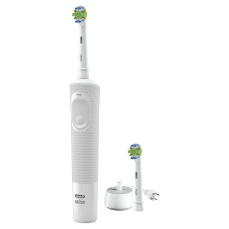 Oral-B Vitality FlossAction Electric Rechargeable Toothbrush with 2 Brush Heads powered by Braun (Oral B Stages Electric Toothbrush)