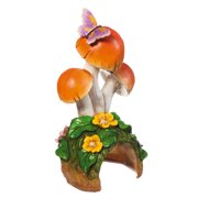New Creative Polystone Mushroom Toad House Acorn Alley Statuary