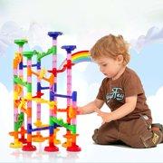(Free One Week Delivery)NuFazes 105pcs Kids DIY Marble Run Race Set Railway Building Blocks Construction Track Toys