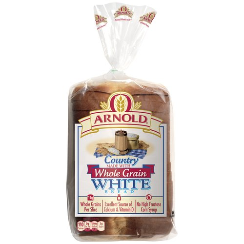 Arnold Country White Bread Made with Whole Grain, 24 oz