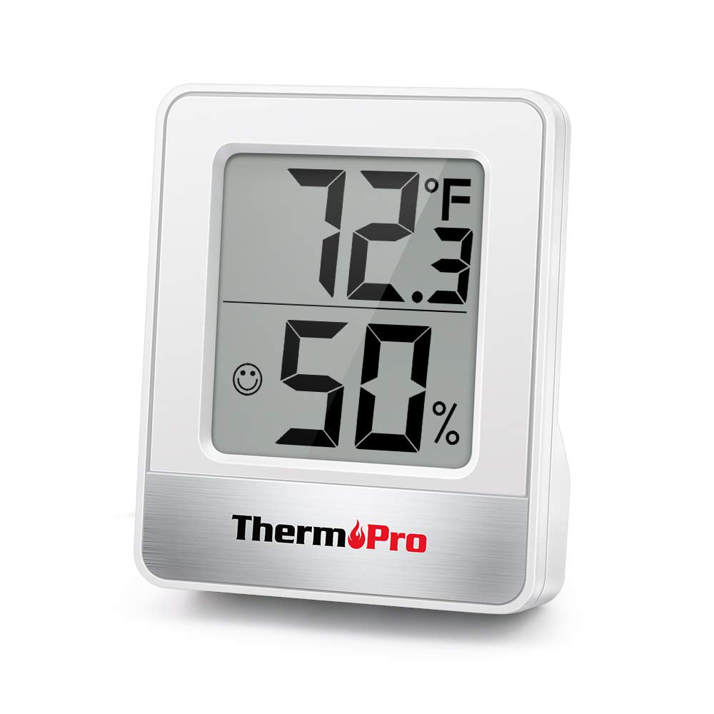Min//Max Records ThermoPro TP50 Digital Indoor Room Thermometer Hygrometer Monitor Temperature and Humidity Meter for Home Office Nursery Comfort