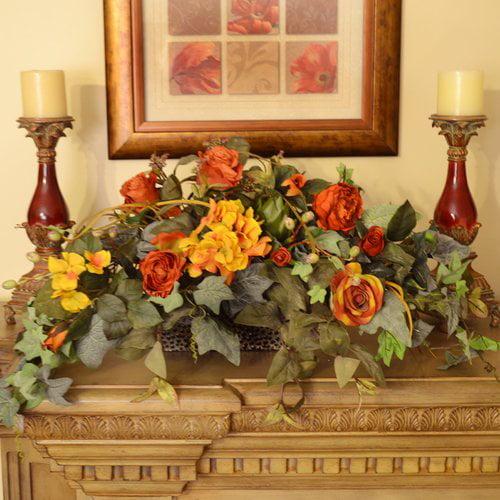 Floral Home Decor Flower Silk Ledge Plant