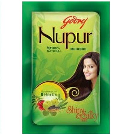 95568040e Godrej Nupur Mehendi Powder 9 Herbs Blend, 140-gram (6 Pack) - Walmart.com