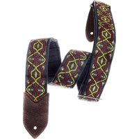 Jodi Head Verna Melanie Denim Slider Guitar Strap Red/Gray 2 in.